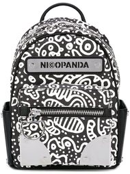 doodle print backpack Nicopanda