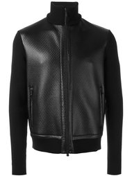 leather panel knitted jacket Z Zegna
