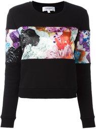 свитер с цветочным принтом   Carven