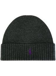 шапка-бини с отделкой в рубчик Polo Ralph Lauren