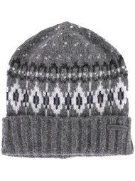 шапка-бини вязки интарсия Woolrich
