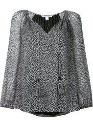 блузка c V-образным вырезом   Diane Von Furstenberg