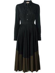 flared pleated shirt dress Nº21