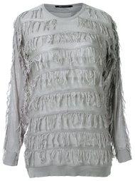 fringed knit blouse Uma | Raquel Davidowicz