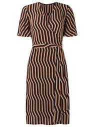 v-neck striped dress Reinaldo Lourenço