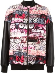 graffiti bomber jacket Giamba