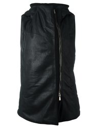 hooded sleeveless biker jacket 10Sei0otto