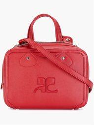 сумка на плечо с тиснением логотипа Courrèges