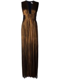 'Rita' pleated plunge neckline gown Maria Lucia Hohan