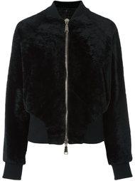куртка-бомбер с фактурной поверхностью Drome