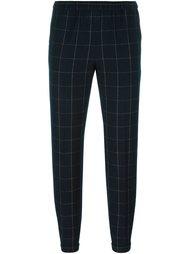 tapered check trousers  Alberto Biani