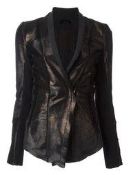 metallic bronze-tone fitted jacket 10Sei0otto