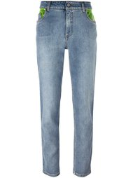 contrast pockets jeans Jeremy Scott
