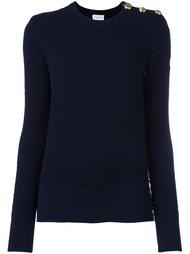 стеганый трикотажный свитер Moncler