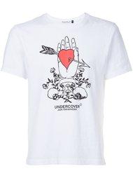 футболка с принтом сердца Undercover