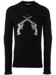 свитер с нашивкой пистолетов  Dolce & Gabbana