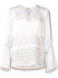 блузка с V-образным вырезом и вышивкой Derek Lam 10 Crosby