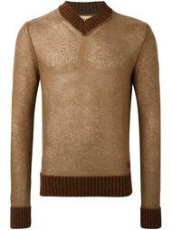 свитер с V-образным вырезом Al Duca D'Aosta 1902