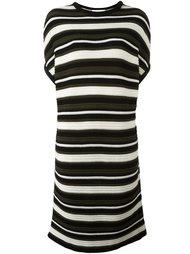 вязаное полосатое платье-футболка Gianluca Capannolo