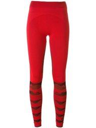 полосатые спортивные леггинсы Adidas By Stella Mccartney