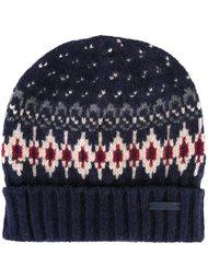 вязаная шапка-бини с узором Woolrich