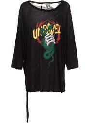 футболка с принтом змеи Unravel