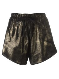 metallic gold-tone shorts 10Sei0otto