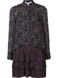 платье-рубашка с узором Derek Lam 10 Crosby