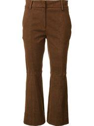 расклешенные замшевые брюки Tibi