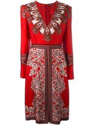 платье  с принтом пейсли   Alexander McQueen