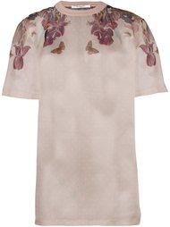 прозрачная футболка с цветочным принтом Givenchy