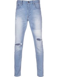 distressed stonewash skinny jeans monkey time