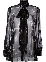 блузка с рисунком в виде мотыльков Alexander McQueen