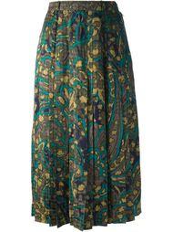 юбка в абстрактный цветок Jean Louis Scherrer Vintage