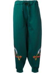 спортивные брюки с вышивкой G.V.G.V.