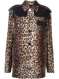 куртка с леопардовым принтом   Givenchy