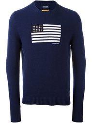 свитер с принтом флага Woolrich