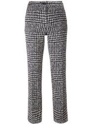 plaid straight leg trousers Luisa Cerano