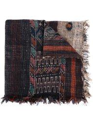 шарф с комбинированным принтом и бахромой Pierre-Louis Mascia