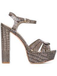 snakeskin effect sandals  Schutz