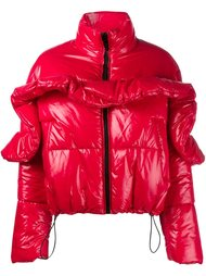 куртка-пуховик с оборочной деталью MSGM