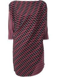 жаккардовая блузка свободного кроя Issey Miyake