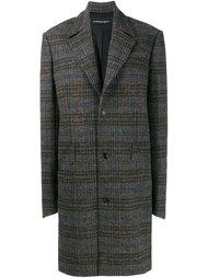 объемное пальто в ломаную клетку Y / Project