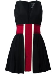 striped v neck dress Fausto Puglisi