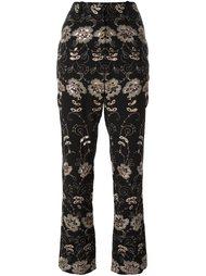 брюки с цветочной вышивкой  Givenchy