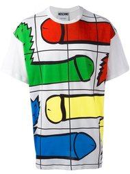 футболка с принтом Moschino