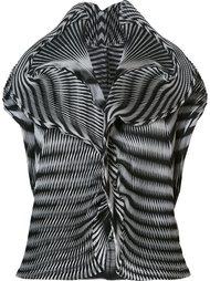 short-sleeve origami blouse  Issey Miyake