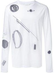 футболка с длинными рукавами и принтом Maison Margiela