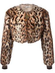 куртка-бомбер с леопардовым принтом   Givenchy