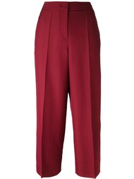 straight leg cropped trousers Luisa Cerano